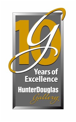Hunter Douglas, the leading manufacturer and marketer of custom window coverings in North America, is proud to announce the 10 year anniversary of its National Network of Gallery Stores.